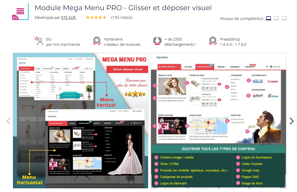 module-prestashop-mega-menu-pro
