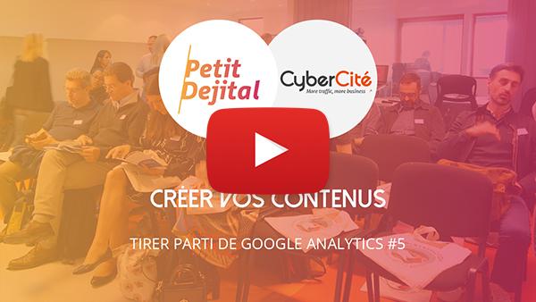 Créer contenus Google Analytics