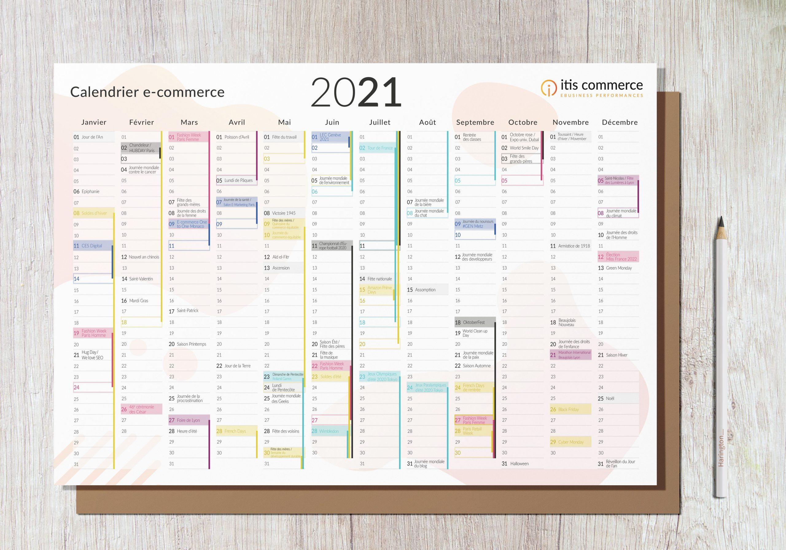 Calendrier Des Journées Mondiales 2022 Calendrier E Commerce 2021 : Tous les Evénements à Connaître !