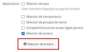 Selection-produit-restriction-code-promo-prestashop